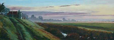 Schilderij Fred Thoolen 'Nieuwbildtdijk'.