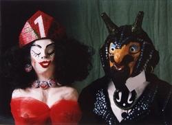 theaterpoppen 'Lel-Bel' en 'Mr. Garbage'   foto: Ton Aartsen